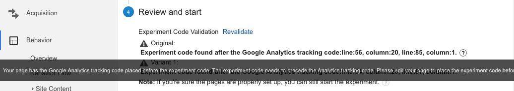 tracking-before-experiment-code-google-analytics