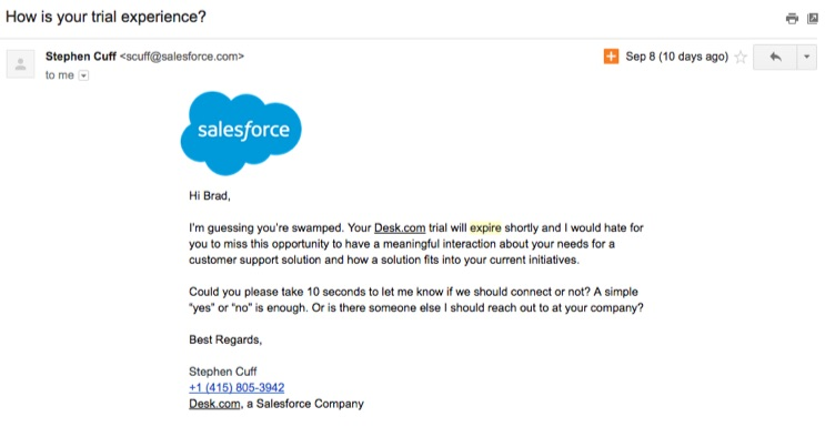 salesforce-trial-experience-email