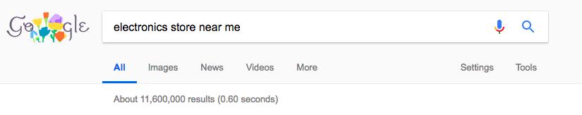 store near me google search