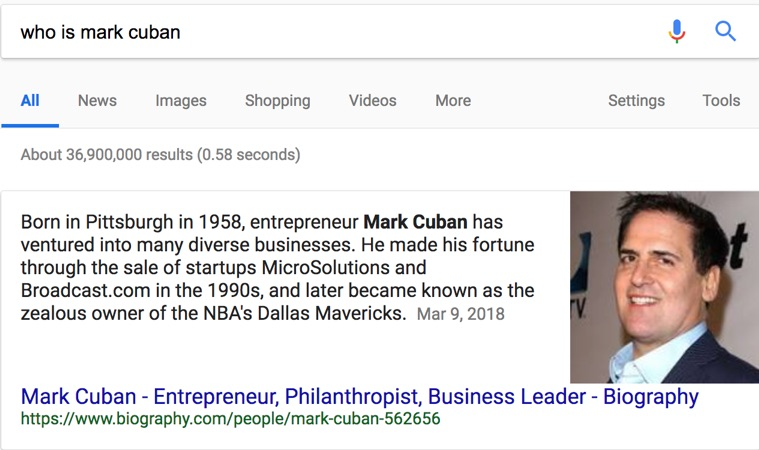 who is mark cuban rich snippets