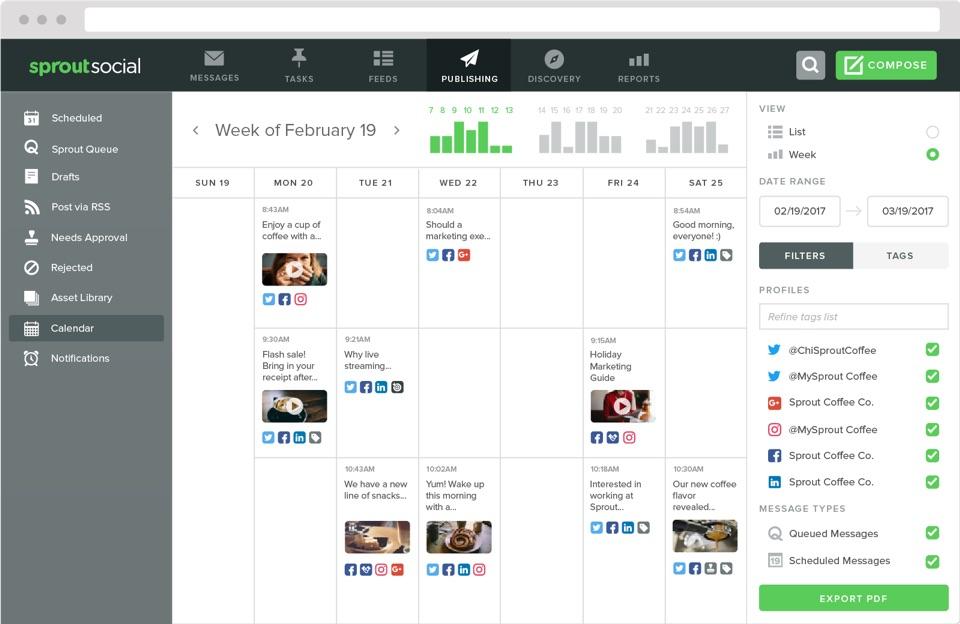 sprout social calendar
