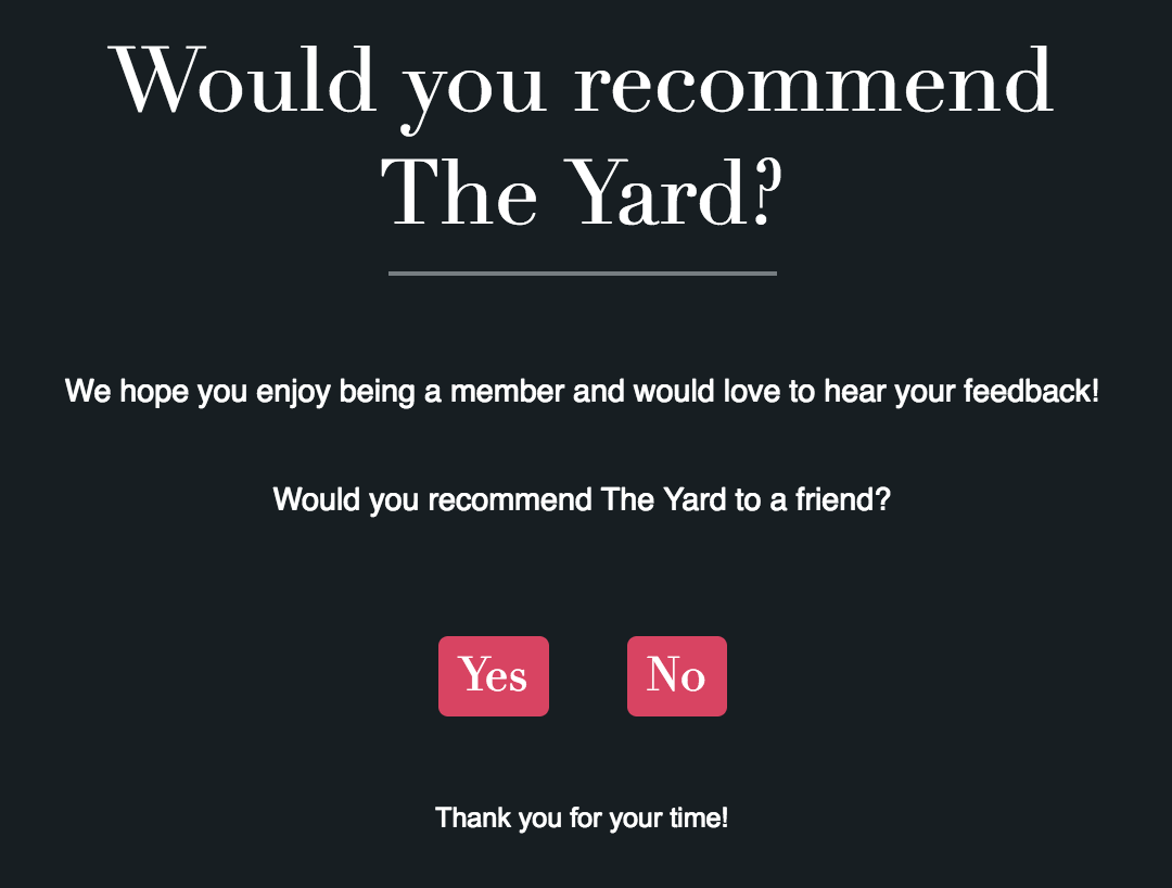 would you recommend the yard